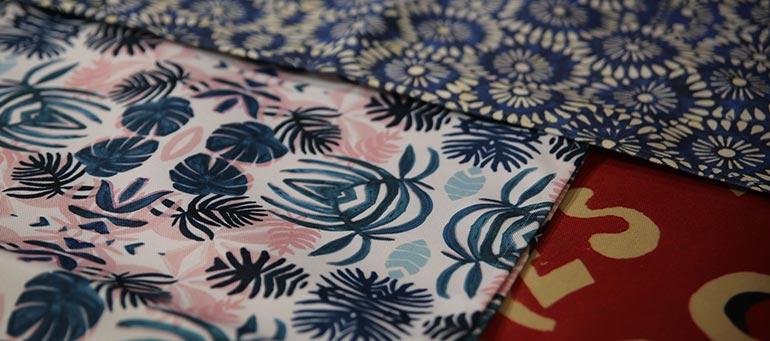 impression de motifs sur polyester